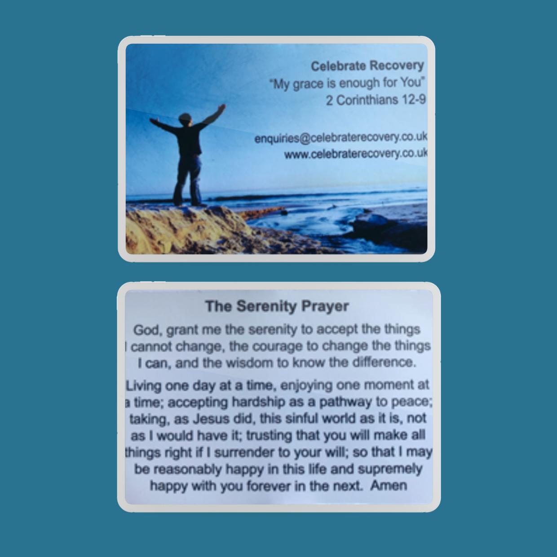 Celebrate Recovery UK Serenity Prayer Cards